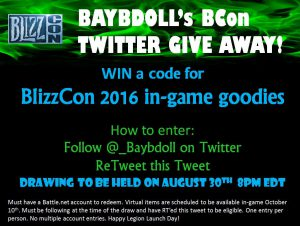 Blizzcon Giveaway